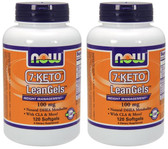 2-Pack Of 7-Keto LeanGels 100 mg 120sGels, Now Foods