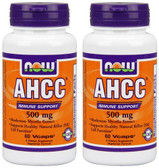 2-Pack Of AHCC Immune Support 500 mg 60 Vcaps, Now Foods, Immune Support