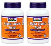 2-Pack Of Alpha Lipoic Acid 250 mg 120 Vcaps, Now Foods High Potency Antioxidant