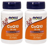2-Pack Of CoQ10 30 mg Softgels 90 Sgels, Now Foods