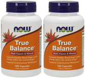 2-Pack Of True Balance High Potency Multiple 120 Caps, Now Foods