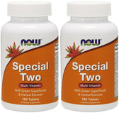 2-Pack Of Now Special Two 180 Tabs, Now Foods, Multi-Vitamin Green Superfoods