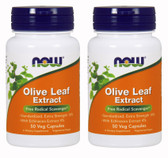 2-Pack Of Olive Leaf Ext 18% 500 mg 50 Vcaps, Now Foods
