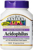 Acidophilus High-Potency 100 Caps, 21st Century