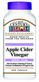 Apple Cider Vinegar 300 mg 250 Tabs, 21st Century Health Care