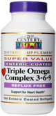 Triple Omega Complex 3-6-9 180 Enteric Coated sGels, 21st Century Health Care