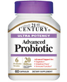 Advanced Probiotic Ultra Potency 60 Caps, 21st Century Health Care