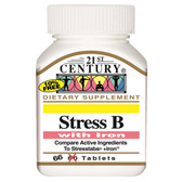Stress B with Iron 66 Tabs, 21st Century Health Care