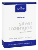 Silver Lozenges with Honey and Mint 21 Lozenges 3.4 oz (95 g), Activz