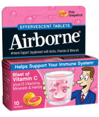 Effervescent Tabs Pink Grapefruit 10 Tabs, AirBorne