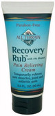Recovery Rub Pain Relieving Cream 3.0 oz (90 ml), All Terrain