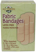 Fabric Bandages Latex Free Assorted 30 Count, All Terrain