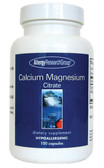 Calcium Magnesium Citrate 100 Veggie Caps, Allergy Research Group