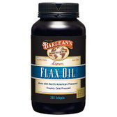 Highest Lignan Flax Oil 1000 mg 250 sGels, Barlean's