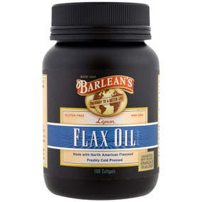 Highest Lignan Flax Oil 1000 mg 100 sGels, Barlean's