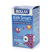 Kids Smart Hi DHA-Omega 3 Fish Oil Berry Flavor 30 Chewable Burstlets, Bioglan