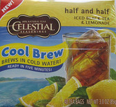Half and Half Cool Brew Iced Black Tea & Lemonade 40 Tea Bags 3.0 oz (85 g), Celestial Seasonings