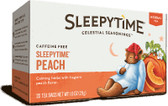 Herbal Tea Caffeine Free Sleepytime Peach 20 Tea Bags 1.0 oz (29 g), Celestial Seasonings