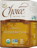 Organic Genmaicha Green Tea 16 Tea Bags 1.0 oz (28 g), Choice Organic Teas