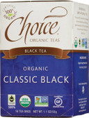 Organic Classic Black Tea 16 Tea Bags 1.1 oz (32 g), Choice Organic Teas