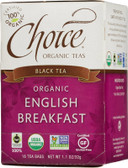 Organic English Breakfast Black Tea 16 Tea Bags 1.1 oz (32 g), Choice Organic Teas