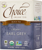 Organic Earl Grey Black Tea 16 Tea Bags 1.1 oz (32 g), Choice Organic Teas