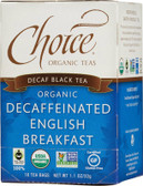 Organic Decaffeinated English Breakfast 16 Tea Bags 1.1 oz (32 g), Choice Organic Teas