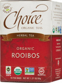 Herbal Tea Organic Rooibos Caffeine-Free 16 Bags 1.27 oz (36 g), Choice Organic Teas
