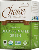 Organic Decaffeinated Green Tea 16 Tea Bags 1.1 oz (32 g), Choice Organic Teas