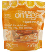 Omega3 Squeeze Orange Flavor 120 Squeeze Packets (2.5 g) Each, Coromega