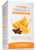 Omega-3 Chocolate Orange Squeeze 90 Single Serving Packets (2.5 g), Coromega