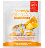 Omega3+D Squeeze Tropical Orange Smoothie 120 Squeeze Packets 2.5 g Each, Coromega