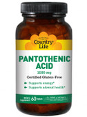 Pantothenic Acid 1000 mg 60 Tabs, Country Life