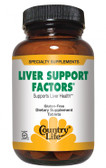 Liver Support Factors 100 Tabs, Country Life