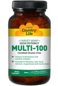 Gluten Free Target-Mins Multi-100 High Potency 90 Tabs, Country Life