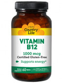 Vitamin B12 1000 mcg 60 Tabs, Country Life