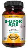 R-Lipoic Acid 100 mg 60Veggie Caps, Country Life