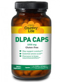 DLPA Caps 1000 mg 60 Caps, Country Life