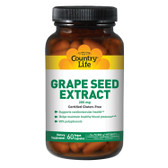 Grape Seed Extract 200 mg 60 Veggie Caps, Country Life