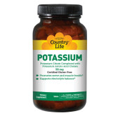 Potassium 99 mg 250 Tabs, Country Life