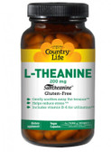 L-Theanine 200 mg 60 Vegan Caps, Country Life