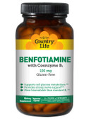 Benfotiamine with Coenzyme B1 150 mg 60 Veggie Caps, Country Life