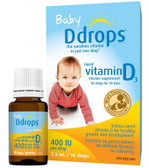 Baby Liquid Vitamin D3 400 IU 0.08 oz (2.5 ml) 90 Drops, D Drops
