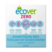 Zero Automatic Dishwasher Tabs Fragrance Free 25 Tabs 17.6 oz (0.5 kg), Ecover