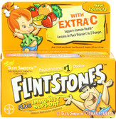 Children's Multivitamin Supplement Fruit Flavors 60 Tasti Smooth Chewable Tabs, Flintstones