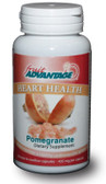 Heart Health Pomegranate 435 mg 60 Easy-to-Swallow Caps, Fruit Advantage