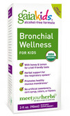 Kids Bronchial Wellness for Kids Alcohol-Free 3 oz (89 ml), Gaia Herbs