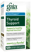 Thyroid Support 60 Vegetarian Liquid Phyto-Caps, Gaia Herbs