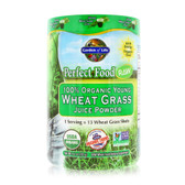 Perfect Food RAW - 100% Organic Young Wheat Grass Juice Powder 4.2 oz (120 g), Garden of Life