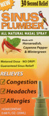 Sinus Plumber All Natural Nasal Spray 0.68 oz (20 ml), Greensations